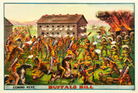 "Buffalo Bill (Circa 1891). Wild West Show Poster (28"" X 42"")"
