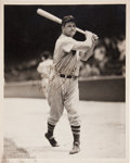 Autographs:Photos, 1939 Jimmie Foxx Signed Photograph by George Burke....