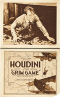 "Movie Posters:Adventure, The Grim Game (Paramount, 1919). Title Lobby Card and Lobby Card(11"" X 14"").. ... (Total: 2 Items)"