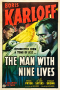 "Movie Posters:Horror, The Man with Nine Lives (Columbia, 1940). One Sheet (27"" X 41"")....."