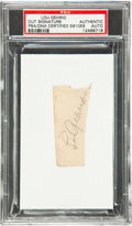 Autographs:Others, Late 1930's Lou Gehrig Signed Cut Signature....