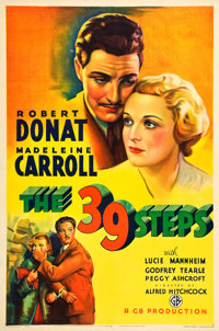 "The 39 Steps (Gaumont, 1935). One Sheet (27"" X 41"")"