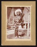 American Indian Art:Photographs, FIVE SIOUX AND GREAT LAKES SUBJECTS. c. 1900...
