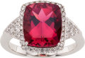 Estate Jewelry:Rings, Pink Tourmaline, Diamond, White Gold Ring. ...