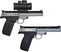 Handguns:Semiautomatic Pistol, Cased Smith & Wesson Model 22 S-1 Semi-Automatic Target PistolMounted with BSA Laser Scope....