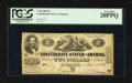 Confederate Notes:1862 Issues, Fully Framed T42 $2 1862.. ...