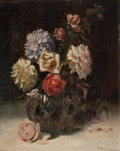 Fine Art - Painting, European:Other , AURELIO MELERO (Cuban, 1870-1929). Flowers in a Vase, 1900.Oil on panel . 13-1/4 x 11 inches (33.7 x 27.9 cm). Signed a...