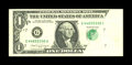 Error Notes:Obstruction Errors, Fr. 1915-G $1 1988A Federal Reserve Note. Very Fine-ExtremelyFine.. A folded sheet during the second printing left approxim...