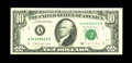 Error Notes:Miscellaneous Errors, Fr. 2029-A $10 1988A Federal Reserve Note. About Uncirculated.. The back printing is doubled on this high grade example, whi...
