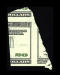 "Error Notes:Major Errors, Fr. ? $20 ? Federal Reserve Note. Choice Crisp Uncirculated.. Thisis a partially printed fragment of a ""New"" $20 Federal Re..."