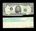 Error Notes:Major Errors, Fr. 1977-E $5 1981A Federal Reserve Note. Choice CrispUncirculated.. This is a failed splice error and it is possiblyuniqu... (Total: 2 items)
