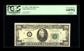 Error Notes:Major Errors, Fr. 2073-A $20 1981 Federal Reserve Note. PCGS Very Choice New64PPQ.. This great end of roll splice error covers almost 50%...