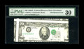 Error Notes:Major Errors, Fr. 2076-D $20 1988A Federal Reserve Note. PMG Very Fine 30.. Thepartial fronts of four different notes are visible on this...