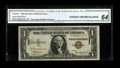 "Error Notes:Major Errors, Fr. 2300 $1 1935A Hawaii Silver Certificate. CGA ChoiceUncirculated 64.. This $1 has an inverted back ""Hawaii"" overprint.A..."