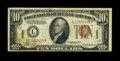 Error Notes:Major Errors, Fr. 2303 $10 1934A Hawaii Federal Reserve Note. Fine-Very Fine..This is a major Hawaii error rarity as this note lacks the ...