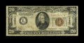 "Error Notes:Major Errors, Fr. 2305 $20 1934A Hawaii Federal Reserve Note. Fine.. The ""Hawaii""overprint is missing from the back of this $20...."