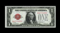 Fr. 1500 $1 1928 Legal Tender Note. Superb Gem Crisp Uncirculated. Bold embossing and a dark red overprint are found on...