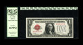 Fr. 1500 $1 1928 Legal Tender Note. PCGS Gem New 66PPQ. This Ace displays vibrant red color and embossing that can be cl...