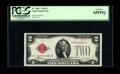 Small Size:Legal Tender Notes, Fr. 1501* $2 1928 Legal Tender Note. PCGS Gem New 65PPQ.. A sharp example of this early star which displays bright white pap...