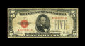 Fr. 1526* $5 1928A Legal Tender Note. Fine. This is by far the rarest regular issue non-mule star in the $5 Legals. From...