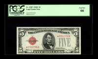 Fr. 1528* $5 1928C Legal Tender Note. PCGS Gem New 66. This is a wonderfully centered and well margined example of this...