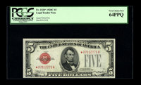 Fr. 1528* $5 1928C Legal Tender Note. PCGS Very Choice New 64PPQ. A beautifully centered and fully bright example of thi...