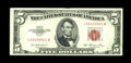 Small Size:Legal Tender Notes, Fr. 1532* $5 1953 Legal Tender Note. Very Choice Crisp Uncirculated.. A wonderfully embossed example of this scarce later st...