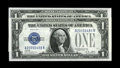 Small Size:Silver Certificates, Fr. 1601 $1/2 1928A/B Silver Certificates. Changeover Pair. Choice Crisp Uncirculated.. One of the eight margins on these tw... (Total: 2 notes)