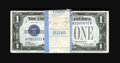 Small Size:Silver Certificates, Fr. 1601 $1 1928A Silver Certificates. 99 Consecutive Examples. Very Choice Crisp Uncirculated.. Only the first note in this... (Total: 99 notes)