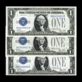 Small Size:Silver Certificates, Fr. 1602 $1 1928B Silver Certificates. X-B, Y-B, Z-B Experimentals.. The X-B note grades Gem CU, the Y-B note grades C... (Total: 3 notes)