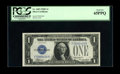 Small Size:Silver Certificates, Fr. 1605 $1 1928E Silver Certificate. PCGS Gem New 65PPQ.. A lovely example of the key to the $1 Silvers which appears to cl...