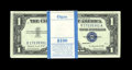 Small Size:Silver Certificates, Fr. 1620 $1 1957A Silver Certificates. Original Pack of 100. Gem Crisp Uncirculated.. Wide margins are found on this handsom... (Total: 100 notes)