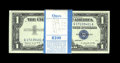 Small Size:Silver Certificates, Fr. 1620 $1 1957A Silver Certificates. Original Pack of 100. Choice Crisp Uncirculated.. Corner bumps are found on the first... (Total: 100 notes)