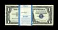 Small Size:Silver Certificates, Fr. 1620 $1 1957A Silver Certificate. Choice Crisp Uncirculated.. The banding process left little indentations in the upper ... (Total: 100 notes)