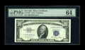 Small Size:Silver Certificates, Fr. 1706* $10 1953 Silver Certificate. PMG Choice Uncirculated 64 EPQ.. A paltry number of survivors are known from an origi...