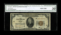 Fr. 1870-K $20 1929 Federal Reserve Bank Note. CGA Very Fine 30. A total of 468,000 notes were printed for the Dallas Di...