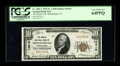 National Bank Notes:Pennsylvania, Shenandoah, PA - $10 1929 Ty. 1 The Miners NB Ch. # 13619. ...