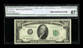 Fr. 2010-K* $10 1950 Narrow Federal Reserve Note. CGA Gem Uncirculated 67. A spectacular example of this much scarcer Na...