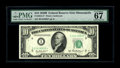 Fr. 2012-I* $10 1950B Federal Reserve Note. PMG Superb Gem Unc 67EPQ. For the serious collector who desires to combine r...