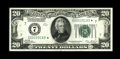 Small Size:Federal Reserve Notes, Fr. 2050-G* $20 1928 Federal Reserve Note. Extremely Fine-About Uncirculated.. Truly a lovely example of this challenging nu...