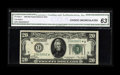 Small Size:Federal Reserve Notes, Fr. 2050-I* $20 1928 Federal Reserve Note. CGA Choice Uncirculated 63.. A little bit of aging is seen in the top margin. We ...