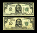 Fr. 2100-B*, D* $50 1928 Federal Reserve Notes. Both of these scarce replacements grade VG/F. The New York note becomes...