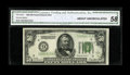 Fr. 2100-I $50 1928 Federal Reserve Note. CGA About Uncirculated 58. A couple of corner tip folds and center bend accoun...