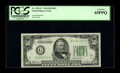 Fr. 2102-G* $50 1934 Federal Reserve Note. PCGS Gem New 65PPQ. Broad margins are noted on this Gem $50. Few $50 Stars in...