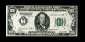 Small Size:Federal Reserve Notes, Fr. 2150-G* $100 1928 Federal Reserve Note. Extremely Fine.. A fold and two light bends account for the grade. Traces of the...