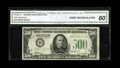 Fr. 2201-B $500 1934 Federal Reserve Note. CGA Crisp Uncirculated 60. A typical grade $500 with no trace of any real cir...