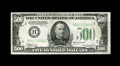Fr. 2201-B $500 1934 Federal Reserve Note. Extremely Fine-About Uncirculated. A couple of light center bends and some mi...