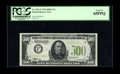 Fr. 2201-F $500 1934 Light Green Seal Federal Reserve Note. PCGS Gem New 65PPQ. This is an attractive LGS example from a...