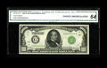 Fr. 2210-G $1000 1928 Federal Reserve Note. CGA Choice Uncirculated 64. A bright and colorful example from this first se...