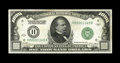 Small Size:Federal Reserve Notes, Fr. 2210-H $1000 1928 Federal Reserve Note. About Uncirculated.. Staining is noted along the top margins on both sides of th...